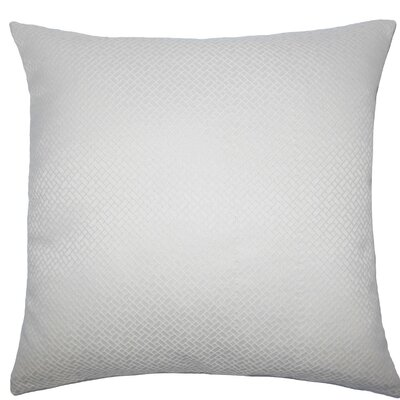Pertessa Geometric Throw Pillow Size: 18 x 18, Color: Bone