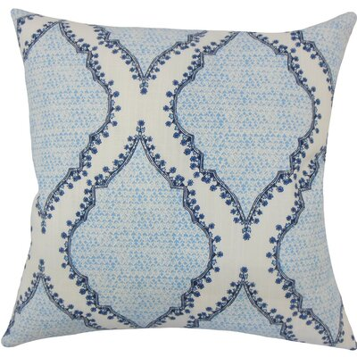Willem Geometric Cotton Throw Pillow Size: 18 H x 18 W x 5 D, Color: Blue