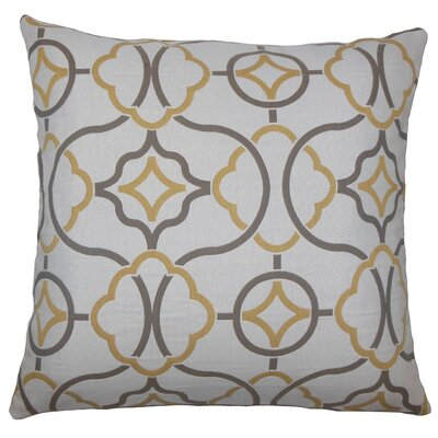 Fearghus Geometric Throw Pillow Size: 18 H x 18 W x 5 D, Color: Sandstone