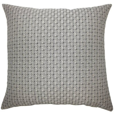 Nahuel Geometric Throw Pillow Size: 24 x 24, Color: Black White