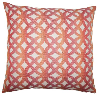 Heulwen Geometric Throw Pillow Size: 20 H x 20 W x 5 D, Color: Coral