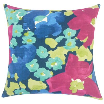 Qing Floral Cotton Throw Pillow Size: 20 H x 20 W x 5 D