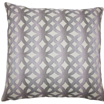 Heulwen Geometric Throw Pillow Size: 18 H x 18 W x 5 D, Color: Lilac