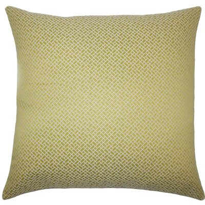 Pertessa Geometric Throw Pillow Color: Peridot, Size: 24 x 24