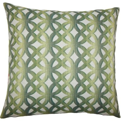 Heulwen Geometric Throw Pillow Size: 20 H x 20 W x 5 D, Color: Jade
