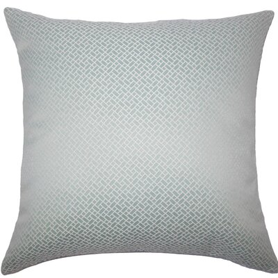 Pertessa Geometric Throw Pillow Size: 18 x 18, Color: Aqua