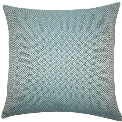 Pertessa Geometric Throw Pillow Color: Teal, Size: 22 x 22
