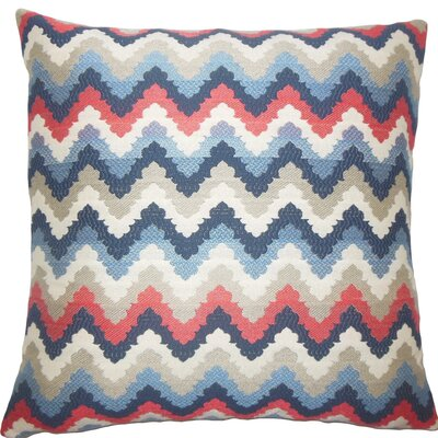 Oya Zigzag Throw Pillow Size: 18 H x 18 W x 5 D, Color: Blue
