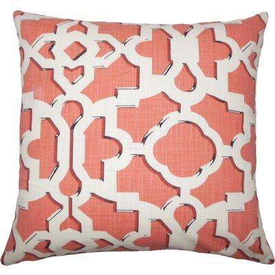 Calixte Geometric Cotton Throw Pillow Size: 20 H x 20 W x 5 D, Color: Sunrise