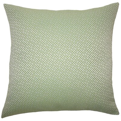 Pertessa Geometric Throw Pillow Color: Green, Size: 24 x 24