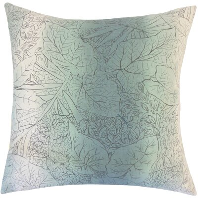 Tamasine Floral Cotton Throw Pillow Size: 18 H x 18 W x 5 D, Color: Cove