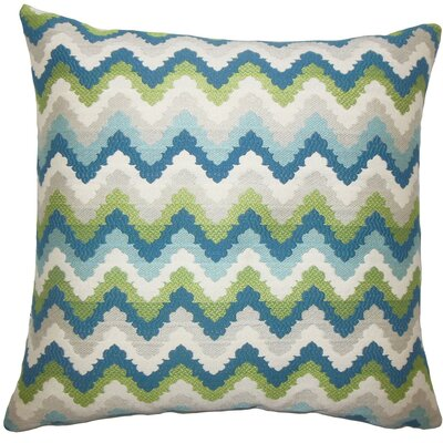 Oya Zigzag Throw Pillow Size: 20 H x 20 W x 5 D, Color: Aqua Green