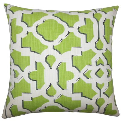 Calixte Geometric Cotton Throw Pillow Size: 18 H x 18 W x 5 D, Color: Citrus