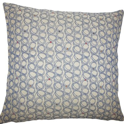 Ladarius Geometric Throw Pillow Size: 18 H x 18 W x 5 D, Color: Blueberry