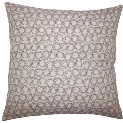 Ladarius Geometric Throw Pillow Size: 20 H x 20 W x 5 D, Color: Plum