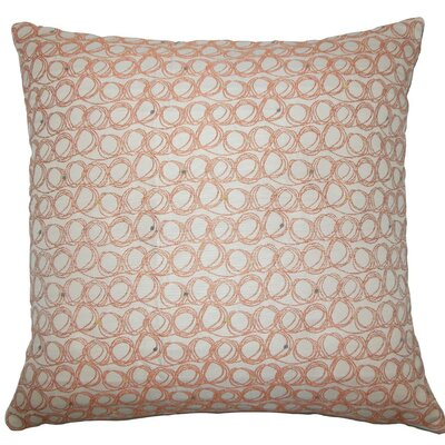 Ladarius Geometric Throw Pillow Size: 18 H x 18 W x 5 D, Color: Tangerine