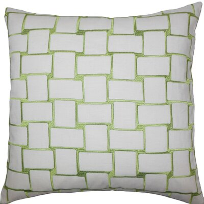 Quetzal Geometric Throw Pillow Size: 18 x 18, Color: Green