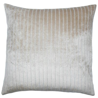 Maaike Striped Throw Pillow Color: Driftwood, Size: 24 x 24