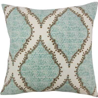 Willem Geometric Cotton Throw Pillow Size: 18 H x 18 W x 5 D, Color: Peacock