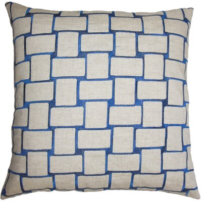 Quetzal Geometric Throw Pillow Size: 18 x 18, Color: Navy