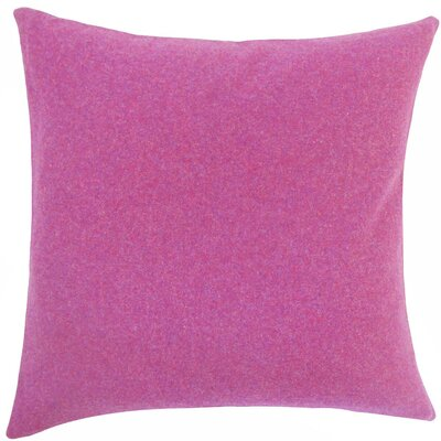 Saeran Solid Wool Throw Pillow Size: 18 H x 18 W x 5 D