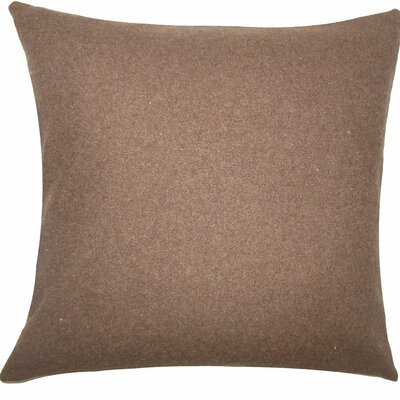 Wavery Solid Wool Throw Pillow Size: 18 H x 18 W x 5 D