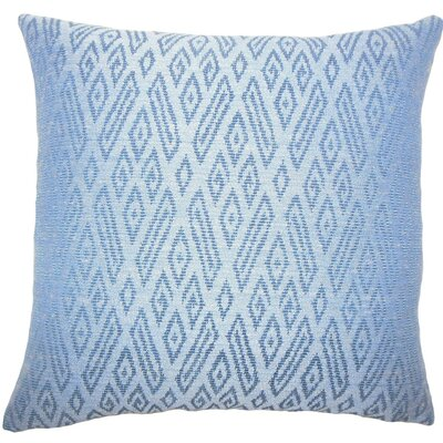 Gaphna Ikat Throw Pillow Size: 18 H x 18 W x 5 D, Color: Lapis