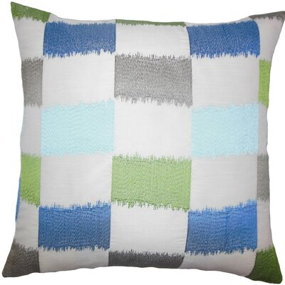 Ruchel Geometric Throw Pillow Color: Blue Green, Size: 22 x 22
