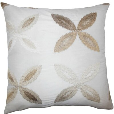 Syshe Ikat Throw Pillow Size: 18 x 18, Color: Natural