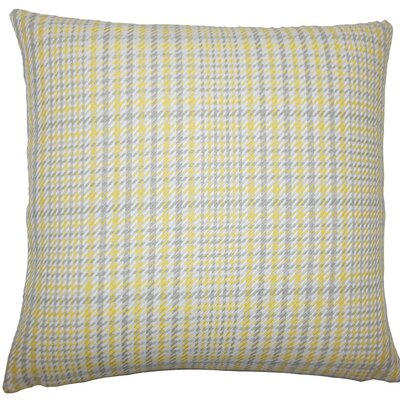 Kalle Houndstooth Cotton Throw Pillow Size: 18