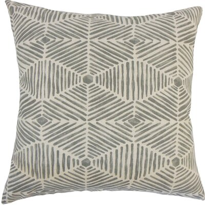 Cais Geometric Cotton Throw Pillow Size: 20 H x 20 W x 5 D, Color: Grey