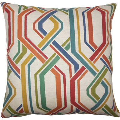 Theta Geometric Cotton Throw Pillow Size: 20 H x 20 W x 5 D