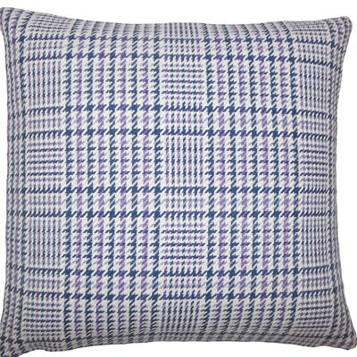 Kalle Houndstooth Cotton Throw Pillow Size: 18 H x 18 W x 5 D, Color: Plum