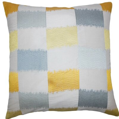 Ruchel Geometric Throw Pillow Size: 18 x 18, Color: Blue Yellow