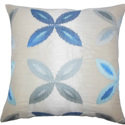 Syshe Ikat Throw Pillow Color: Blue, Size: 22 x 22