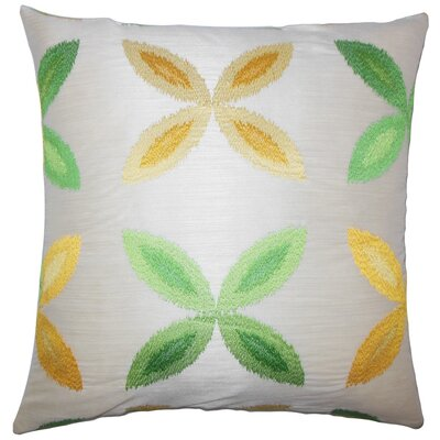 Syshe Ikat Throw Pillow Size: 22 x 22, Color: Yellow Sage