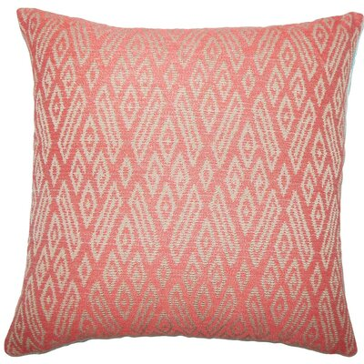 Gaphna Ikat Throw Pillow Size: 20 H x 20 W x 5 D, Color: Cayenne