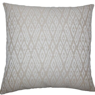 Gaphna Ikat Throw Pillow Size: 18 H x 18 W x 5 D, Color: Jute