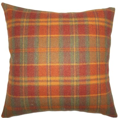 Maeko Plaid Wool Throw Pillow Size: 20 H x 20 W x 5 D