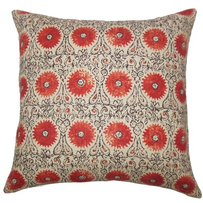 Xaria Floral Throw Pillow Size: 24 x 24, Color: Spice
