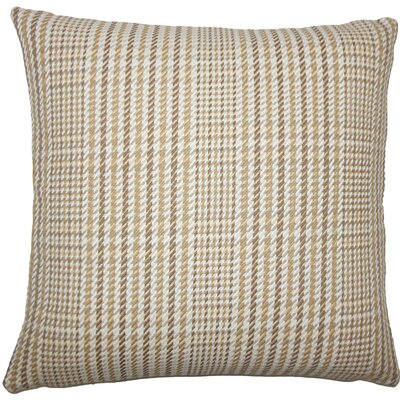Kalle Houndstooth Cotton Throw Pillow Size: 20 H x 20 W x 5 D, Color: Driftwood