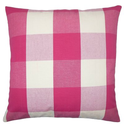 Pyralis Plaid Cotton Throw Pillow Size: 18 x 18