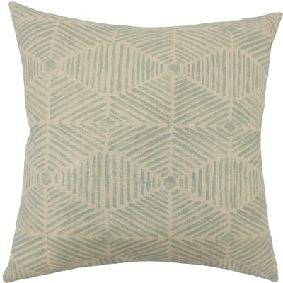 Cais Geometric Cotton Throw Pillow Size: 18 H x 18 W x 5 D, Color: Lennox