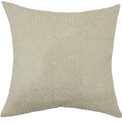 Cais Geometric Cotton Throw Pillow Size: 20 H x 20 W x 5 D, Color: Cloud