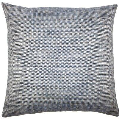 Daker Weave Throw Pillow Size: 18 H x 18 W x 5 D, Color: Indigo