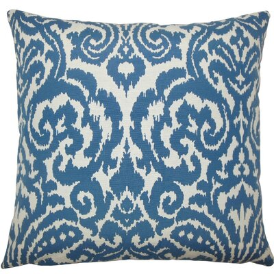 Wafai Ikat Throw Pillow Size: 18 H x 18 W x 5 D, Color: Aegean
