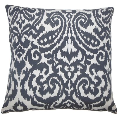 Wafai Ikat Throw Pillow Size: 20 H x 20 W x 5 D, Color: Domino