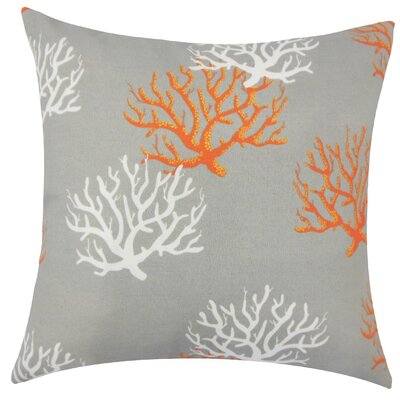 Gyan Coastal Throw Pillow Size: 18 H x 18 W x 5 D, Color: Citrus