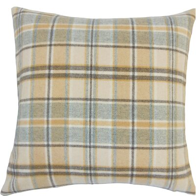 Nasnan Plaid Wool Throw Pillow Size: 18 H x 18 W x 5 D