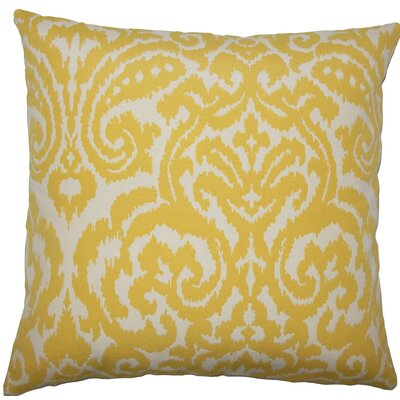 Wafai Ikat Throw Pillow Size: 18 H x 18 W x 5 D, Color: Pollen